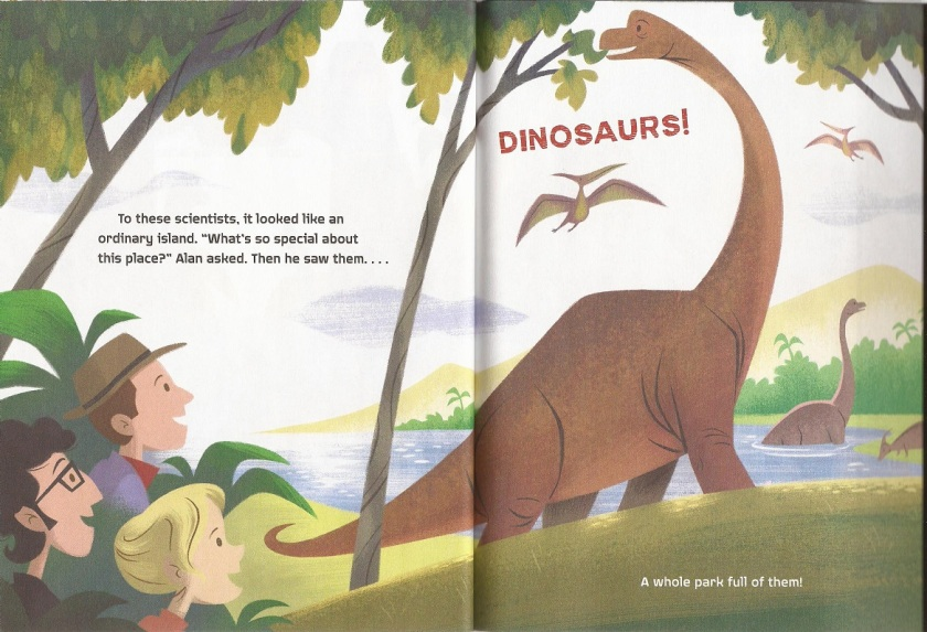 JP Little Golden Book Brachiosaurus scene