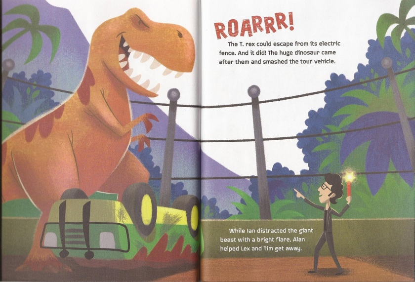 JP Little Golden Book TRex escape