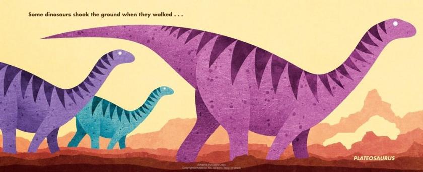 quadrupedal Plateosaurs