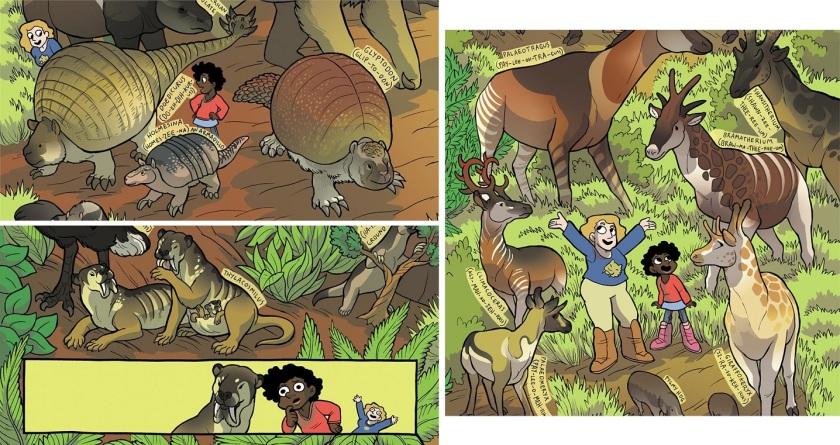 armadillos, thylacosmilus, giraffids