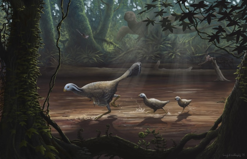 caudipteryx-with-chicks