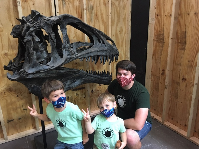 boys and acrocanthosaurus