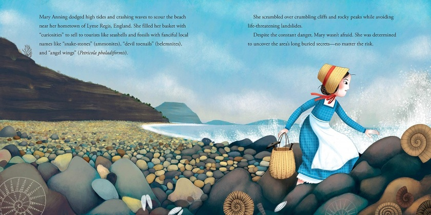 Mary Anning exploring